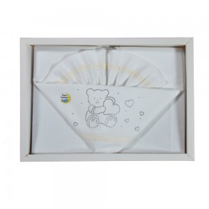 Completo Lenzuola Per Lettino Chic Baby Beige