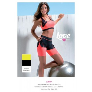 Completino Fitness Top E Pantaloncini Love And Bra