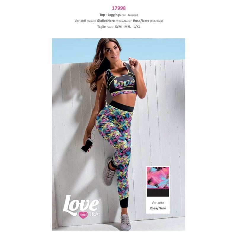 Completino Fitness Da Donna Top E Leggins