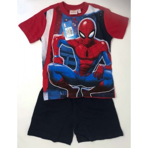 Disney - Pigiama Bimbo/a Mezza Manica Spiderman