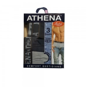 Liabel Athena 3 Boxer In Cotone Stretch Fantasia