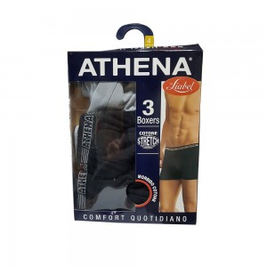 Liabel Athena 3 Boxer In Cotone Stretch Nero