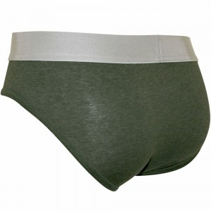 Dsquared2 Brief Slip Uomo In Cotone Verde