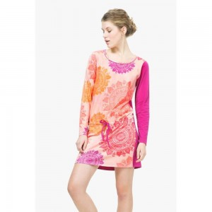 Desigual Camicia Da Notte Nightdress Patch