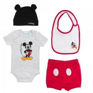 Disney Set Regalo Neonato Mickey 100% Cotone