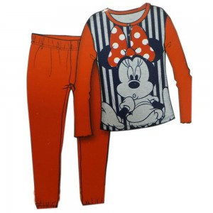 Disney Pigiama Bimba Minnie Mouse Cotone Ml+pl