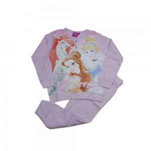 Disney Princess Pigiama Bimba Cotone Ml+pl